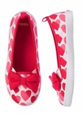 NWT Gymboree Girls Fun at Heart Red Heart Shoes Flats Size 11 & 2