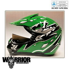 Green Motocross Helmet, Kids, Child, Youth, XS to XL, Aust Std, dirt bike, quad