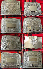 Scottish Kilt Belt Buckle Chrome Finish /Highland Belt Buckle Various Style