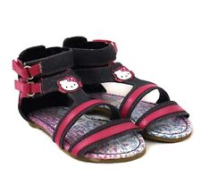 Hello Kitty Infant Girls Denim Alalea Touch Riptape Summer Sandals Various Size