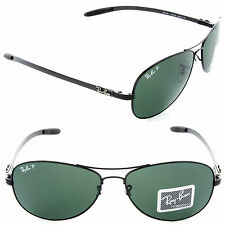 UNISEX CARBON FIBRE RAY BAN RB8301 MIRROR POLARIZED 100%UV 7COLORS MADE IN ITALY