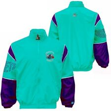 Charlotte Hornets NBA Mens Discounted Off Color Starter Jacket Teal Adult Sizes