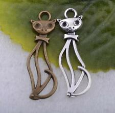 free ship 10pcs/20pcs/50pcs tibet Silver bronze lovely fox charm pendant 34x11mm