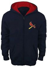 St. Louis Cardinals MLB Mens Majestic Payback Moment Full Zip Hoodie Size 6XL