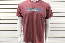 Men's Marmot Dark Red Heather Black Logo Tee Short Sleeve Brand New WITHOUT Tag