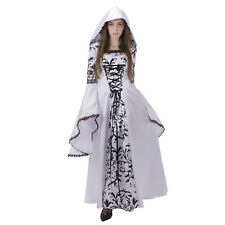 White Black Medieval Victorian Renaissance Gothic Wedding Dress Costume Gown
