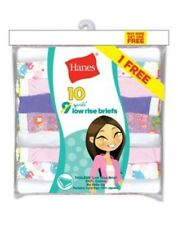 10-Pack Hanes Girls' ComfortSoft® Low Rise Briefs Panties - Assorted - Size 6-16