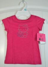 GIRLS KIDS PRINCESS BY HELLO KITTY PINK SHORT SLEEVE CREW NECK T SHIRT SIZE 4