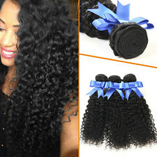 3 Bundles Curly Brazilian Jerry Curl Virgin Human Hair Extensions 8 to 24 Inch