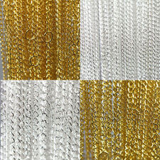 """Lots10/100Pcs Gold/Silver Plated Filigree Chains Jewelry Findings Necklace 18.9"""""""