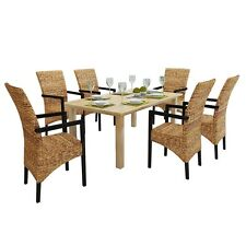 New Handwoven Abaca Dining Chair Set with Armrest 2/4/6 pcs Dining Room kitchen