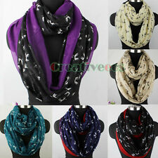 Fashion Women Poodle Dog Animal Print Long/Infinity Scarf Viscose Ladies Scarves