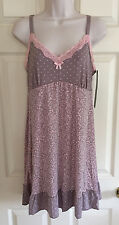 DELTA BURKE INTIMATES Babydoll Chemise Gown PLUS 1X 2X 3X Pink Multi-Color