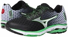 Mizuno Men's Wave Rider 18 Running Shoe,Black/Silver