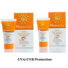 Facial Sun Protection Minus Sun SPF40 PA+++ UVA UVB Oil Control White Ivory 25 g