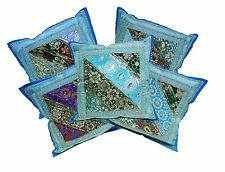 5pcs-100Pcs Embroidery Velvet Brocade Cushion Covers Wholesale Lot From India