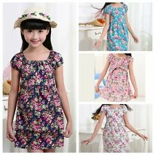 Sweet Child Floral Pure Cotton Princess Skirt Flowers Pattern Sleeveless Dress