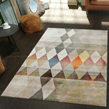 Large Modern Rug Living Room Mat Multi Coloured Carpet Stylish Woven Thick Rug