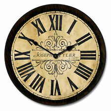 "Large wall Tuscan Villa Clock 10""- 48"" Whisper Quiet, Non-Ticking"