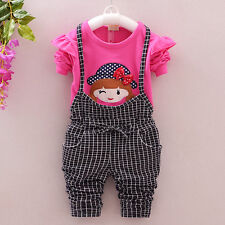 2PC Toddler Baby Girls Clothes Outfit Girl Child Party Outfits T-shirts + Pants
