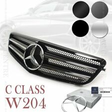 (6 Colors) Front Mesh Grille for Mercedes Benz C Class W204 2008-12 AMG SPORT