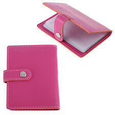 20 Slots ID Business Credit Card Holder Women Men Charming Faux Leather Case