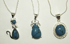 A Beautiful Sterling Silver Turquoise Necklace