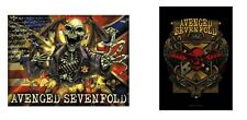 AVENGED SEVENFOLD A7X - FLAG / DEATHBAT CREST - OFFICIAL TEXTILE POSTER FLAG