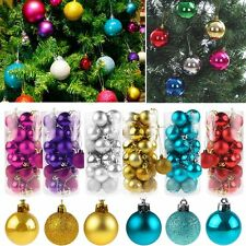 24x Christmas Tree Hanging Xmas Balls Decorations Baubles Party Wedding Ornament