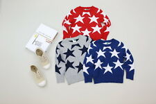 New Childrens Kids Winter Junior Jumper Knitted Sweater Assorted Twinkle Stars