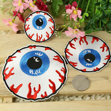 Goth Punk Rock Blooding Eyeball Embroidered Iron On Applique Motif Patch New YY