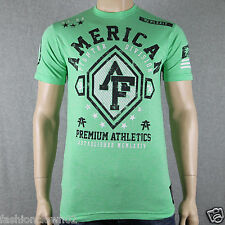 American Fighter by Affliction BENNINGTON  FM1034 Mens T-shirt Tee Lime
