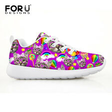 Girls New Casual Shoes Breathable Child Running Shoes Multicolor Cute Cat Design