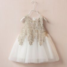 Toddler Baby Princess Girls Dresses Christening Baptism Wedding Pageant Clothes