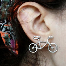 1Pair Fashion Women Personality Lovely Alloy Bicycle Earrings Ear Studs Hot