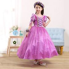Kids Girl Pageant Wedding Birthday Party Fancy Graceful Tulle Princess Dress