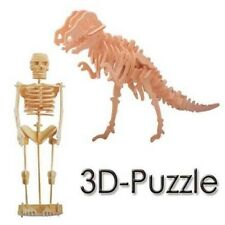 Dinosaurs 3D wooden puzzle model construction skeleton Tyrannosaurus WOODEN TOY