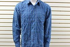 Men's Marmot Bromley Plaid Button-Up Long Sleeve Peak Blue 64430 New With Tag