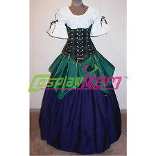Vintage Pirate Costume Medieval Renaissance Ball Gown Halloween Costume Dress