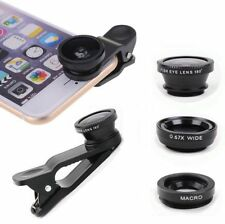 3 in1 Fish Eye+Wide Angle+Macro Camera Clip-on Lens for iPhone 5S/ 5/6/ Plus