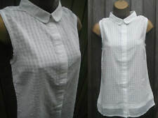 Ladies White Stuff White Cotton Blouse Shirt  Top - Size 8 10 12 14 18