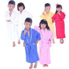 Personalized Name 100% Cotton Bath Robe Children Terry Robes Embroidery Design