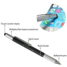 Handy Tech Tool Ballpoint Pen Screwdriver Ruler Spirit Level Multifunction Tool