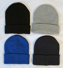 NWT J.Crew Men's Lot Of Men's Solid Beanie Black, Navy, Blue & Grey Hipster