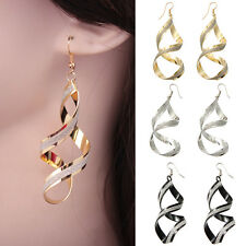 Fashion Womens Jewelry Charming Design Spiral Twist Big Long Hook Earring Gift