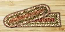 C-RC-024 Olive/Burgundy Stair Treads Set - 100% Jute - NEW!