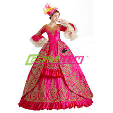Fuschia Medieval Renaissance Victorian Ball Gown Wedding Dress Stage Costume