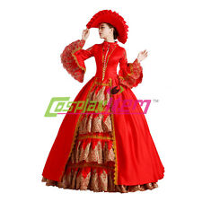 Medieval Renaissance Victorian Ball Gown Wedding Dress Royal Court Stage Costume