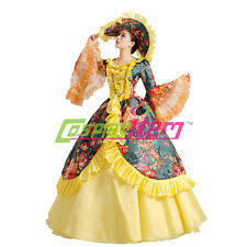 Deluxe Medieval Renaissance Victorian Ball Gown Wedding Dress Stage Costume