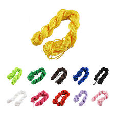 25m Nylon Cord Thread Chinese Knot Macrame Rattail Bracelet Braided String WS